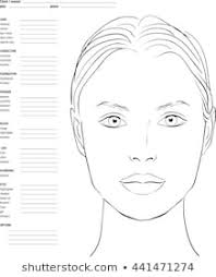 Free Printable Face Charts For Makeup Artists Face Chart Photos 20 423 Face Stock Image Results
