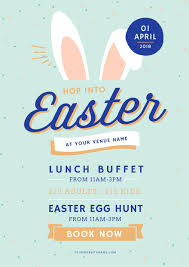 Easter Template Customizable Easter Promotion Templates Diy In Minutes Easil