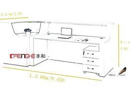 office counter desk. Counter Desk Dimensions Reception Height Standard Design Post Office