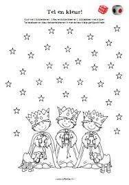 Werkblad Verzamelen Kleurplaat Drie Koningen Kerst Nativity