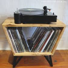 vinyl record furniture. Handmade Record Player Console. Vinyl Revival Furniture