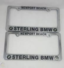 Vintage Pair Of License Plate Frames Sterling Bmw Newport Beach California Cars 1917390583