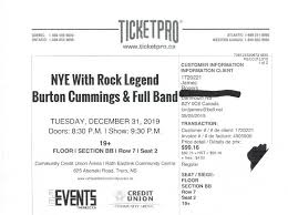 Burton Cummings Nye Birthday Party Events Dartmouth Kijiji