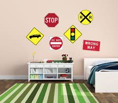 road sign decor beauteous road signs wall decals contemporary wall design of wizard of oz wall