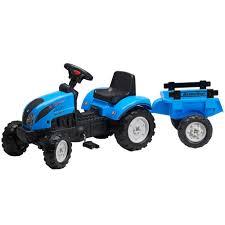 Falk Landini Traktor Mit Anhänger Blau 25