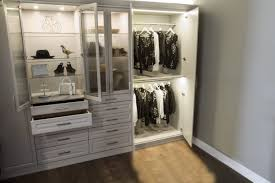 wardrobe closet with led lighting