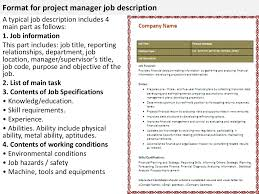 Project Manager Duties Construction Project Manager Responsibilities Resume