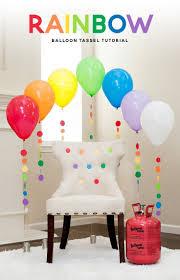 Rainbow Balloon Tassel Tutorial + Festive Party Chair. Diy Rainbow Party  DecorationsBirthday ...