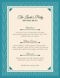 Party Menu Template Dinner Menu Maker Create Dinner Menus Online For Free