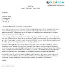 Sample Scholarship Recommendation Letter College Letter