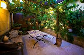 Small Picture Exterior Courtyard Renovation Mediterranean Garden Design