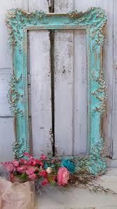 home decorating ideas vintage aqua picture frame