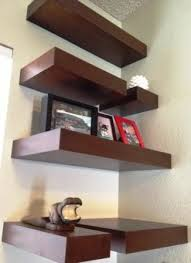 Wood Corner Shelves contemporary