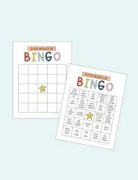 Good Behavior Bingo Printable Chart Behavior Reward Chore Chart Responsibility Chart
