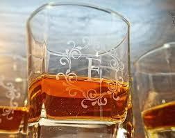 monogram whiskey glass square whiskey glasses monogrammed glasses custom engraved glasses bourbon glasses personalized glassware engraved