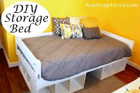 Platform Bed With Storage Diy Collection Twin Size Image Of Pictures