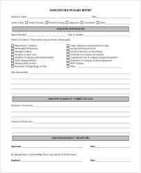 employee discipline template employee disciplinary action form samples 8 free documents in