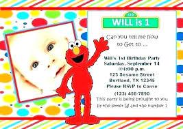invitations to birthday party sesame street first birthday invitations organictees co