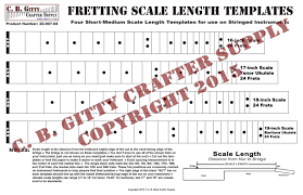 Short Templates Fretting Scale Length Template 4 Short To Medium Length Scales 16