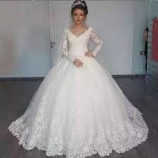 ZJ9170 Sexy High Quality Lace A Line Elegant White Ivory Long Sleeve  Wedding Dress 2019 Bride Dresses Plus Size|Wedding Dresses| - AliExpress