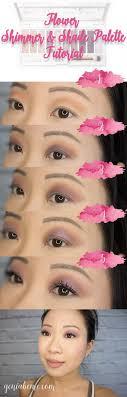 flower shimmer shade eyeshadow warm natural palette tutorial