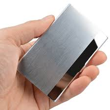 maxgear professional business card holder business card case stainless steel card holder keep business cards in