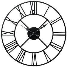 metal roman numeral clock laurel foundry metal roman numeral wall clock reviews metal skeletal roman numerals