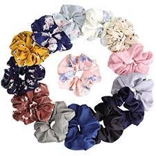 KECUCO 14 <b>Colors Women's</b> Chiffon Flower <b>Hair</b> Scrunchies <b>Hair</b> ...