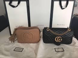gucci soho disco leather bag in rose beige light tan rrp 1465 women s fashion bags wallets on carou