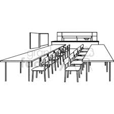 table clipart black and white. black and white outline of a classroom with tables chairs table clipart