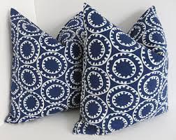 Blue outdoor pillow