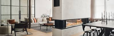 8 foot wide see through gas fireplace