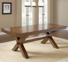 rustic dining table diy. DIY Vintage Solid Wood Trestle Dining Table For Rustic Room Design  On Cream Carpet Tiles Ideas Rustic Dining Table Diy O