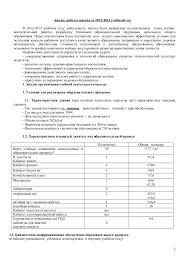 анализ работы сош № уч год Анализ работы