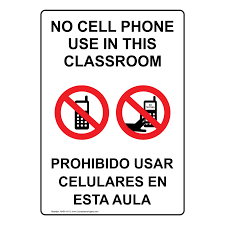 No Cell Phone Signs Printable Classroom No Cell Phones Allowed In