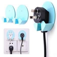 12pcs power plug socket jack hook rack holder hanger home wall decor organizer