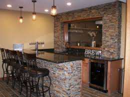 Basement ideas man cave Masculine Man Cave Bar In Basement Reality Construction Llc Bold Man Cave Ideas For Small Basement Reality Construction