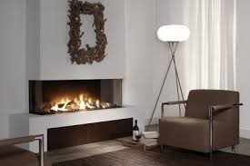3 sided fireplace modern gas fireplace peninsula fireplace