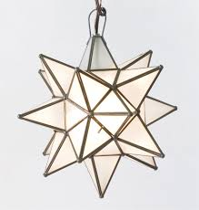 moravian star pendant chandelier small frosted glass by worlds away ags812