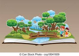 pop up book with a forest theme csp18041609