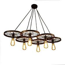 nathaniel 6 light black edison chandelier with bulbs