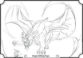 Scary Dragon Coloring Pages Print Printable Scary Dragon Coloring