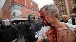 Resultat d'imatges de Carga policia 1 d'octubre