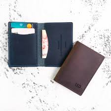 personalised leather card holder and wallet