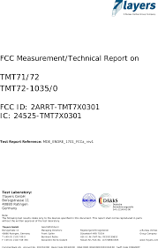 Tmt7x0301 Temperature Transmitter Test Report Endress And