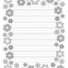 christmas writing paper with decorative