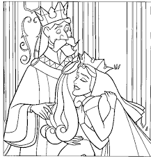 Small Picture Sleeping Beauty Parents Coloring Pages Printable Colouring