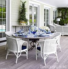 outdoor white wicker furniture nice. White Wicker Chairs Surround The Ceramictopped Table Which Is On Porch Just Outdoor Furniture Nice E