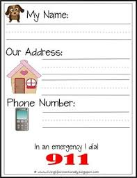 phone number for address free learn my name address printables crafts and activities for