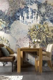 Blumen Fototapete Mit Gedämpften Farben Wandgestaltung